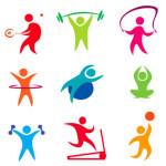 fitness, indoor sport icons